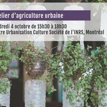 Atelier d'agriculture urbaine