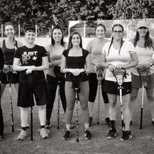 Pratiques de crosse en salle (Box Lacrosse) féminine
