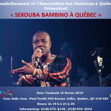 Concert Sekouba Bambino à Québec