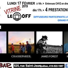 Vitrine Off Rideau > Lila, Chassepareil, James Forest et Max Marshall