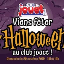 Viens fêter l'Halloween au Club Jouet