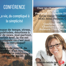 Conférence avec Mme Chantale Belzile