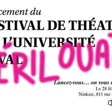 5 à 7: Lancement du Festival de Théâtre de l'Université Laval