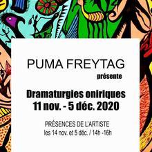 Exposition Dramaturgies oniriques présentée par Puma Freytag