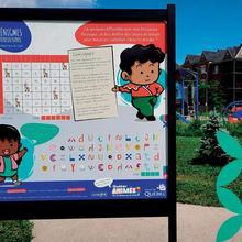 Panneaux interactifs dans les parcs