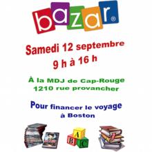 Bazar à la MDJ de Cap-Rouge