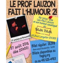 Le Prof Lauzon fait l'humour 2!